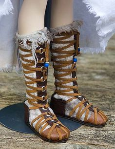 Make Your Own Celtic Warrior (Gladiator) Boots - Tutorial
