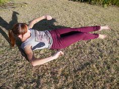 Posing in field.
