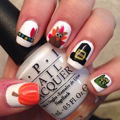 27 Creative Thanksgiving Nails Designs That Will Inspire You All Through The Fall Nail Manicure And
