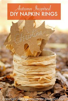 Whether you're hosting an intimate get-together or a party for a crowd, these easy DIY fall-inspired napkin rings will take your dinner event to the next level and are sure to make each one of your guests feel special.