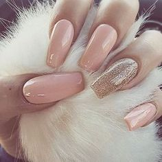 A manicure is a cosmetic elegance therapy for the finger nails and hands. A manicure could deal with just the hands, just the nails, or Beautiful Nail Designs, Cute Nail Designs, Crafts Beautiful, Prom Nails, Wedding Nails, Hair And Nails, My Nails, Gold Gel Nails, Blush Nails