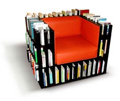 BOOKCASE CHAIR. Love it!