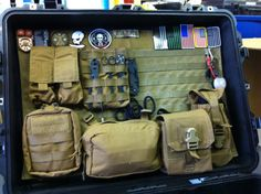 tacticalstuff:  The Pelican Case MOLLE lid organizer that a friend about to be deployed just built. He is a US Navy EOD. More info     I want one of these for my 1510 and 1620  I feel a project coming on