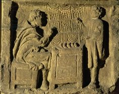 Bread and Cake Seller, Relief, Roman, 2nd century (stone)