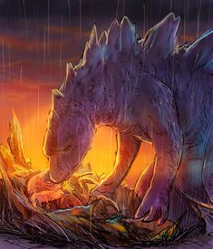 See more 'Godzilla' images on Know Your Meme! All Godzilla Monsters, Godzilla Comics, Godzilla 2, Cute Monsters, Godzilla Tattoo, Godzilla Franchise, Godzilla Wallpaper, Fanart, Alien Creatures