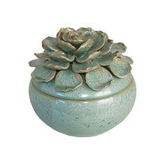 Floral Ceramic Box found on Polyvore