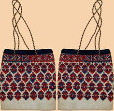 Antique Greek Embroidery Hand Bag Circa 1920