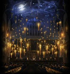 """""""The ceiling doesn't really look like that! It's an enchantment... I read all about it in Hogwarts A History."""" :)"""