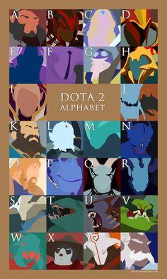 Dota 2 Alphabet (Updated) by ~nullf on deviantART #dota2 #dota2Fanatic #dota Addicts #Dota-Fun-Art