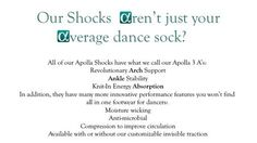 Our Shocks Aren't Just Your Average Dance Sock!