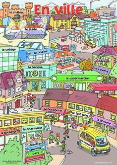 D2.L1 p.46 Exercices de vocabulaire : en ville http://www.lepointdufle.net/vocabulaire.htm