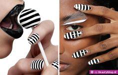 Voor deze gestreepte nagels is een vaste hand of een goede sjabloon nodig. Maar is het al die moeite wel waard? Aan jullie om te beslissen of deze gestreep