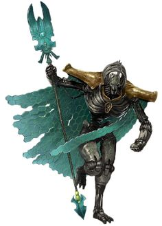 Necron Lords are leaders of Necron armies that serve under Overlords and rule over individual Tomb Worlds.