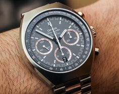 Omega Speedmaster Mark II Two-Tone Sedna Gold Watch Hands-On | aBlogtoWatch