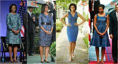 michelle obama niebieski Michelle Obama