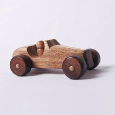 I think ill make my own fisher price little people out of wood like the old ones I had as a kid kind of like the man driving this car.