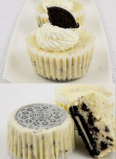For the love of deliciousness!!!  Oreo Cookies and Cream Cheesecakes