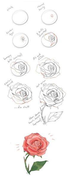 Roses Drawing Tutorial