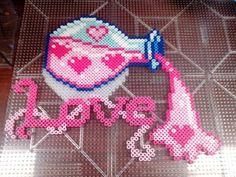 Love potion perler beads