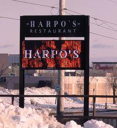 Harpo's Restaurant new LED sign- delicious prime rib dinner!