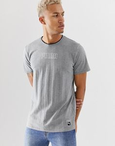 410d0ab5 Puma Heritage Old School T-Shirt in Gray | Clothing, Shoes & Accessories