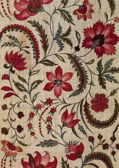 floral pattern--probably Indian (V7A - apartment therapy)