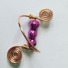 Hand-Made Copper Wire Spiral ring