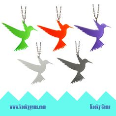 Humming bird necklaces