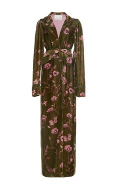 Florari Belted Velvet Kimono Robe by JOHANNA ORTIZ Now Available on Moda Operandi