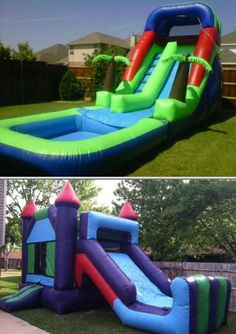 If you want to rent bounce houses, then check out brinca BRINCA. They offer water slides and bouncers. They also offer chairs, tables, and concessions.