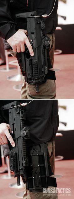 Heckler & Koch MP7 and dropleg holster.