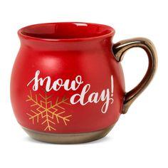 'Snow Day!' 16oz Stoneware Belly Mug Red - Threshold