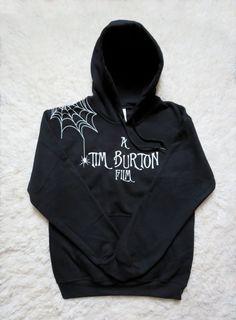 TIM BURTON HOODIE - Gothic, goth, black horror movie sweater, spooky, dark fashion
