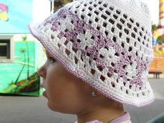 Crochet baby summer HatModern Cotton Baby Girl by StephanDesign, $16.25