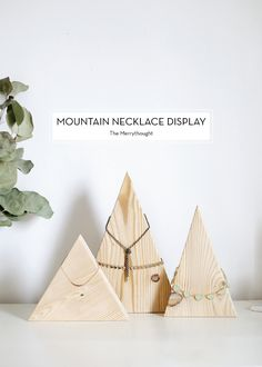 Mountain Necklace Display
