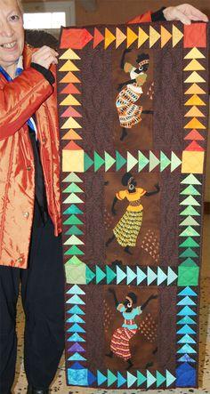 vol-d'oie aux africaines-fini-claudine > Les Quilts de Cocagne