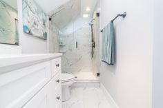 Stunning Marble Bathroom With White Cabinets House For Sale 4409 Captivating Bathroom Remodeling Baltimore Inspiration