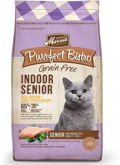 The whole Merrick Purrfect Bistro Healthy Senior Recipes cat food is indeed a procedure rich in protein, which is 100% grain-free. Best Cat Food, Dry Cat Food, Senior Cat Food, Kitten Food, Rich In Protein, High Protein Recipes, Health Diet, Grain Free, Free Food