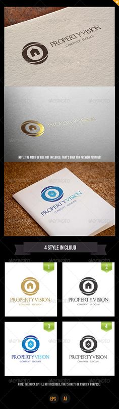 Property Vision Logo  #GraphicRiver         This logo design for all creative business. Consulting, Excellent logo,simple and