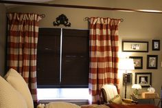LOVE these drapes!  Looks great with the bamboo shades.