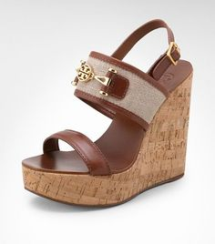 Platform Wedge Sandal...By Tory Burch...love them! (maybe a little lower heel) #sandal #summerfashion #toryburch