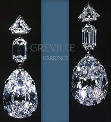 The Greville Diamond Drops Earrings  bequeathed to Queen Elizabeth, later The Queen Mother.