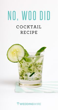 With muddled mint and cucumber, it's no wonder this summer wedding cocktail is SO refreshing! Get the recipe now.  {Pink Avocado Catering}