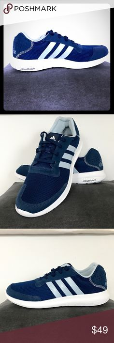 Adidas cloud foam running sneakers Beautiful brand new adidas cloud foam sneakers in dark blue and light blue. Brand new with tags and no box. adidas Shoes Athletic Shoes