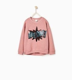 SEQUIN PATCH SWEATSHIRT - Available in more colours