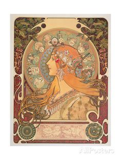 Zodiac, 1896 Giclee Print by Alphonse Marie Mucha at AllPosters.com
