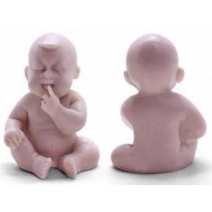 Bebé con dedito, Molde para hacer jabon de bautizo.