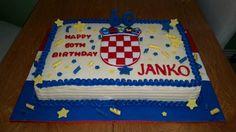 Croatian 60th birthday cake