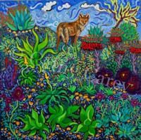 """: Songs of Good Earth, 30"""" x 30"""", Oil by Cathy Carey 2014"""