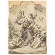 Vision of Sainted Benedictine Monk,  Francesco Saverio Mergolo, 1776